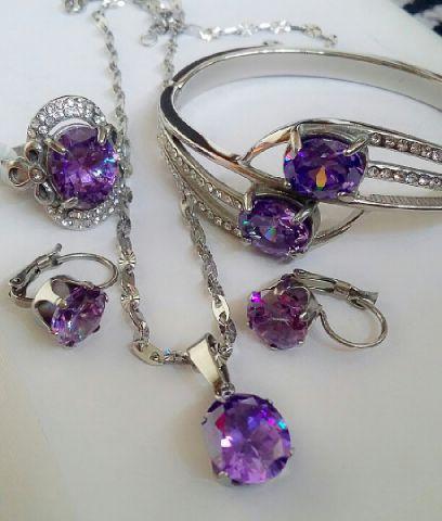 set titanium crystal ungu