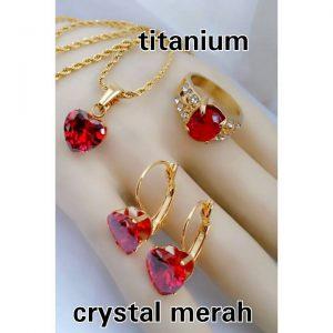set titan crsytal merah